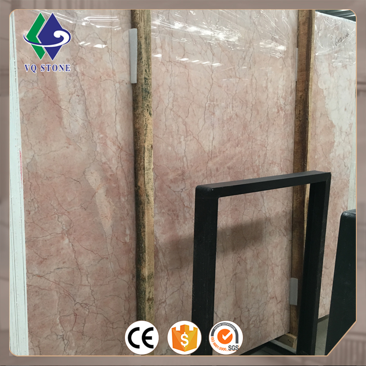 Cheap price polished color pink marble flooring tile