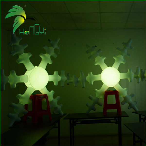 Christmas Decoration Inflatable Snowflake Ball with led Light