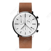 2017 high quality stainless steel chronograph quartz minimal watches from China supplier