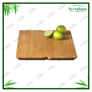 Dark wooden bamboo cutting board