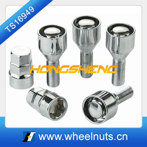 silver color alloy wheel anti-theft bolts