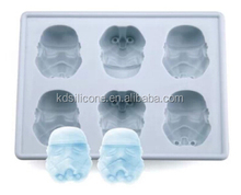 food grade silicone ice moulds star war design factory price