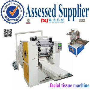 Automatic box drawing facial tissue paper folding machine