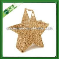 exquisite star-shaped wicker basket wholesale