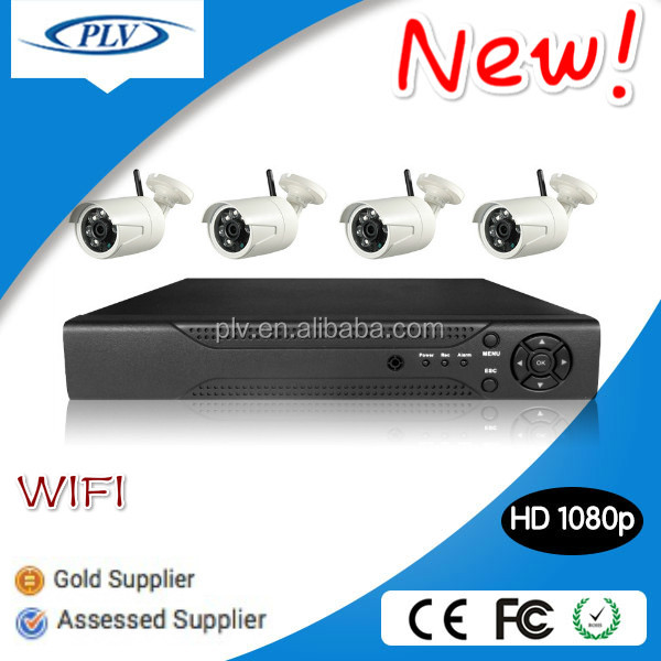 2015 New product! 4Channel 1080P Wifi HD IP camera with NVR kit wireless surveillance camera system kit