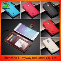 stand fip PU mobile phone case for samsung with credit card holder