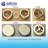 Gold color lavatory overflow hole cover