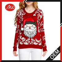 women's acrylic canta claus christmas sweater