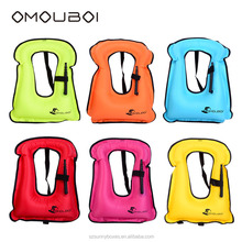 OMOUBOI Children Size Colorful Inflatable Snorkeling Vest Durable Polyester Water Activities Buoyancy Device Swimwear Beachwear