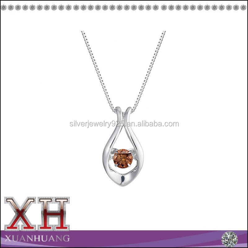925 Sterling Silver Pendant Necklace with Sparkle 3A Cubic Zircon Diamond Women Luxury Elegant Neck Jewelry