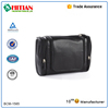 High Quality Leather Travel Cosmetic travel Bag PU Leather Hanging Toiletry Bag