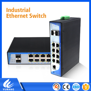 SNMP L2 managed 8 port industrial grade switch poe media converter