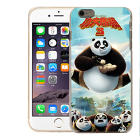 Movie Kongfu Panda print silicone phone case lighting case for iphone 6/6 plus