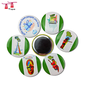 customized printing novelty souvenir round shape button badge magnet