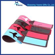 Airplane luggage tag silicone portable suitcase bag tag travel tag