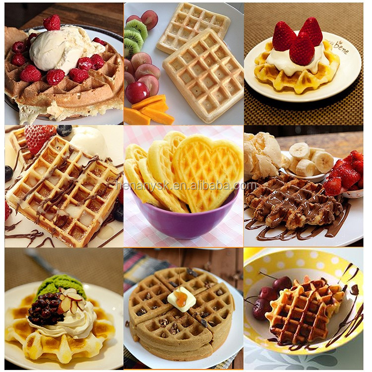 Electric Plum Shaped High Quality Professional New Style Waffle Maker Non-Stick Waffle Iron