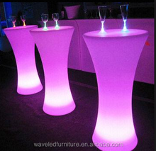 Outdoor night club furniture portable bar cocktail table high top cocktail table