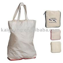 2011 promotional 10 oz. Economy Natural Cotton Folding Tote bag