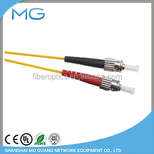 FTTH communication network marketing free sample customized bundle polish ST to ST SM DX Yellow 2.0 3.0 optic fiber patch cord