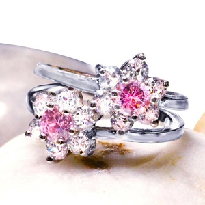 Woman Fashion Jewelry Diamond 925 Sterling Wedding Set Lady Silver Ring