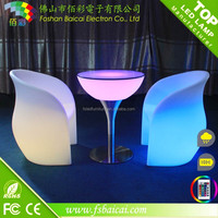 Remote control led coffee table colour change lighted coffee bar table/led lighting bar