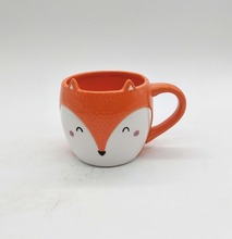 Thumbs Up! Fox shaped Mug orange ceramic espresso cup ceramic