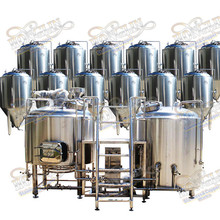 Stainless Steel Commercial Beer Brewery Equipment / Complete Brewing Equipment System