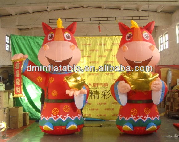 Inflatable horse, inflatable air cartoon model advertising product for activity on sale