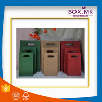 Recycle Stand Up Flat Handle Kraft Multiwall Paper Bag Manufacturers