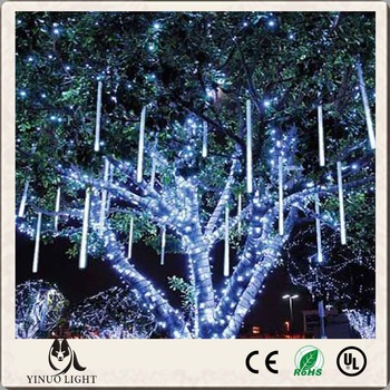 50cm 8tubes/set led meteor light christmas outdoor led icicle lights meteor snow shower christmas