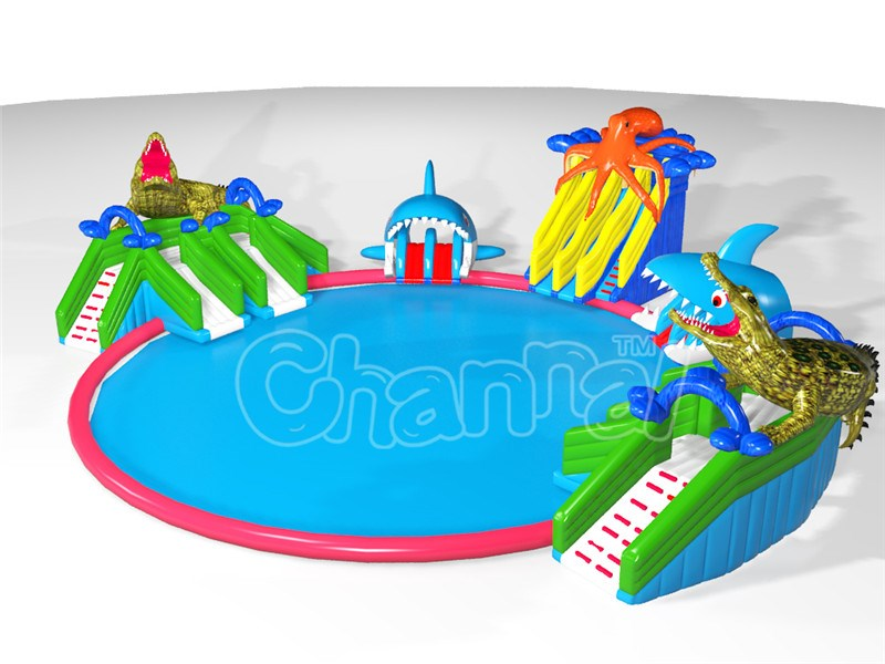 Giant inflatable amusement park, seaworld inflatable commercial water park for adults