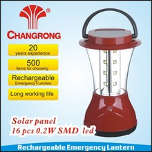 Hot sale rechargeable camping led lantern solar lantern CR-8026FS with 4V battery high quality