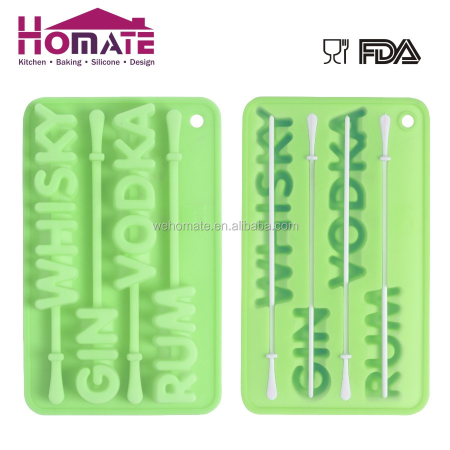 Silicone alphbet ice mould,Silicone Ice Cube Tray
