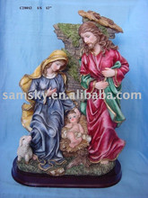 polyresin holy family statue