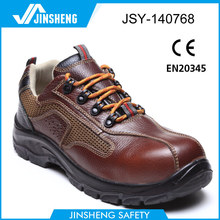 2014 New design brown men leather safety shoe