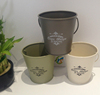 Set of 3 Vintage Mini Garden Bucket Planters