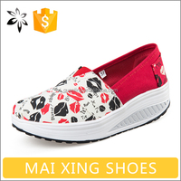 Brand Ladies Fashion Shoe For Women Footwear Soft Kiss Canvas Shoe