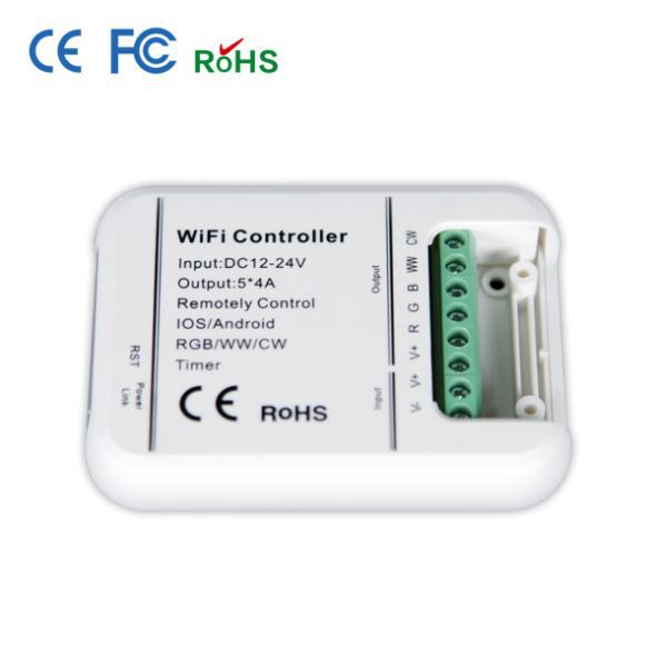 2014new group ce,rohs smartphone/ios/android/ipad led wifi controller to control led strip