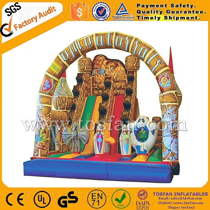 hot sale inflatable surfing <strong>slide</strong> for commercial A4066