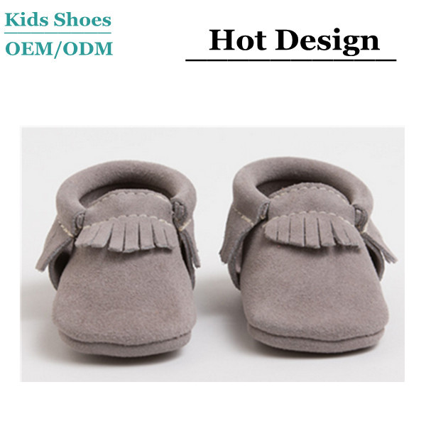 OEM/ODM HIGH END SOFT SOLE BABY STONE SUEDE MOCCASIN SHOES MONMMY AND ME SHOES