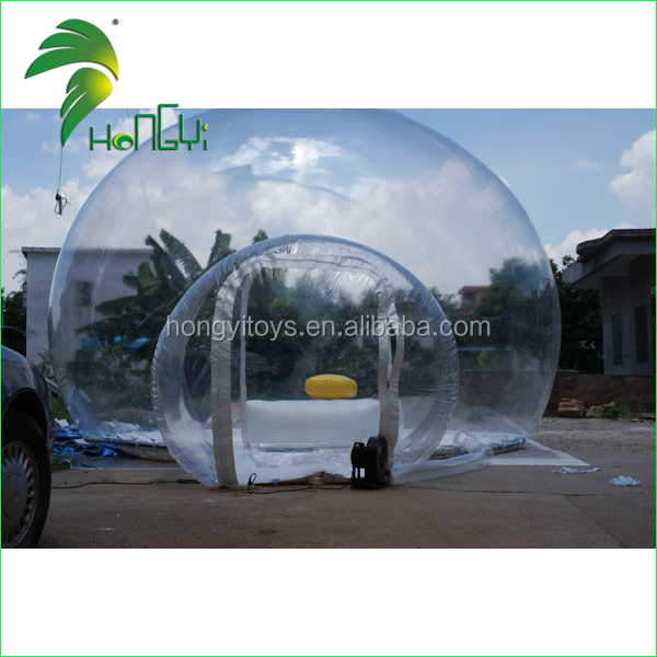 Attractive 0.4mm Durable PVC Inflatable Transparent Clear Air Dome Bubble Tent For Sale
