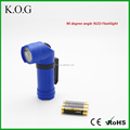 Clip on Plastic 90 degree Flashlight with Angle