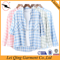 Pure linen high quality women clothes, ladies shirts and blouses