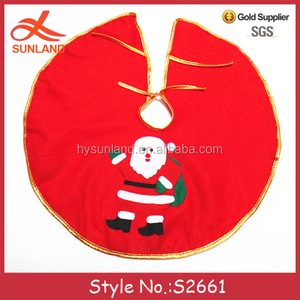 S2661 new fashion home decor wholesale 60 cm christmas tree skirts