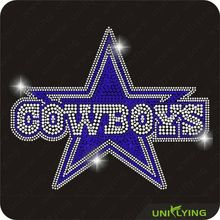 Top-selling bling cowboy iron on rhinestone transfer