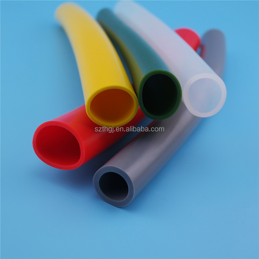 High quality colorful customized size silicone rubber tube for food