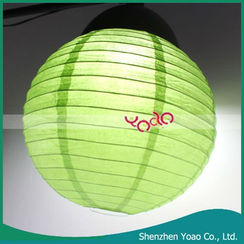 12 Inches Fruit Green Paper Lantern/Round Paper Lantern