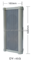 DY-G Series 45W Colunm speaker with horn for public address systems Light Grey color Aluminium alloy