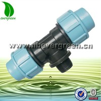 7211 water irrigation male threaded compression tee pipe connector