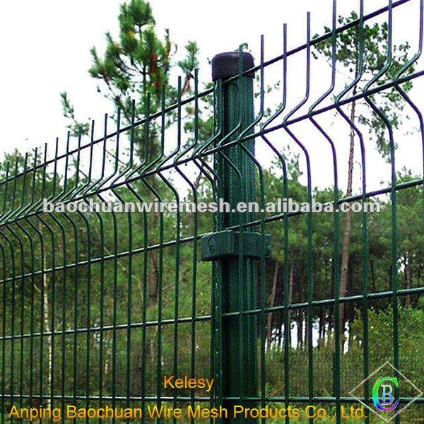 Garden powder coated welded wire mesh fence